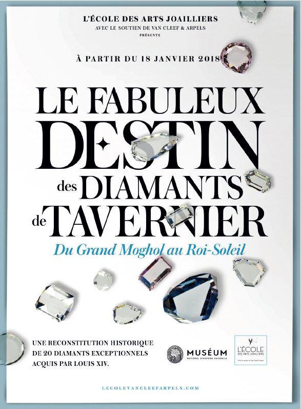 affiche diamants de Tavernier Ecole des Arts Joailliers