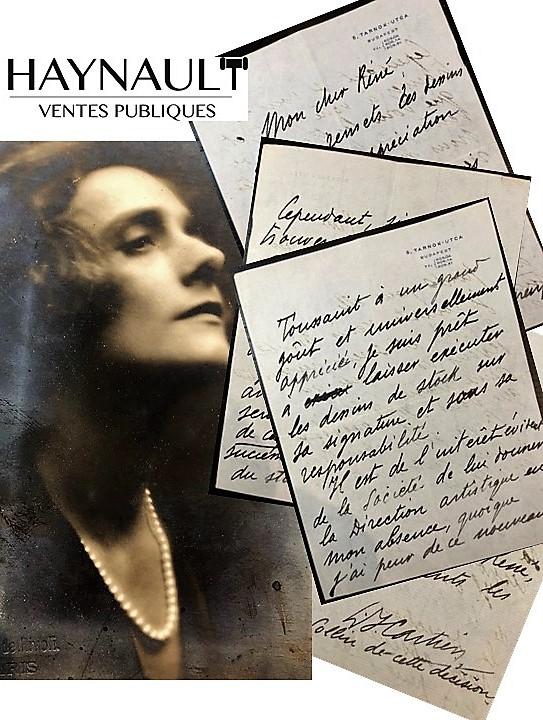 Vente Haynault des lettres de Jeanne Toussaint