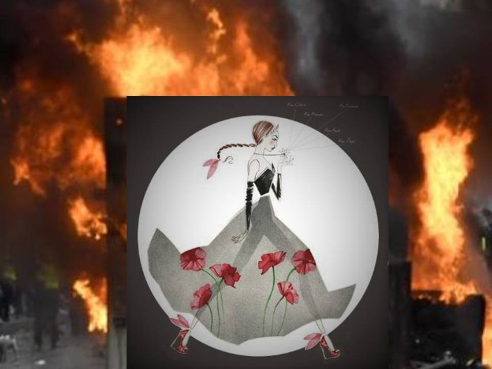 l'égérie Oz-Bijoux traverse une manifestation et déclenche l'alerte sécurité